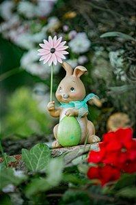 Coelha Flop com Florzinha e Ovo (Pré Venda)