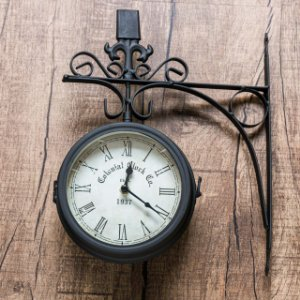 Relógio Estação Colonial Preto - Parede