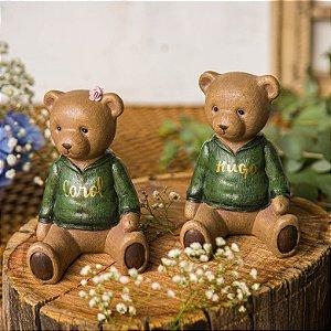 Urso Blusa Verde - Unidade (Personalizável)