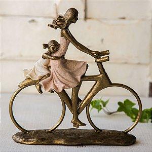 Mamãe e filha na bicicleta - PERSONALIZÁVEL
