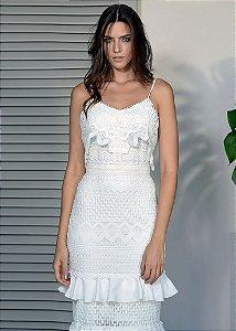 c157871d52 Vestido Longo de Renda Unity Seven - Branco zoom
