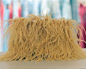 Clutch de Plumas Isla Bolsas - Dourada