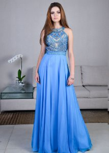 Vestido Longo com Top Bordado Rachel Allan - Azul