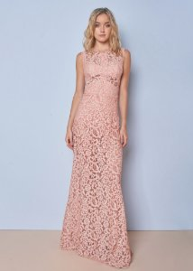 Vestido Longo de Renda Unity Seven - Rosa