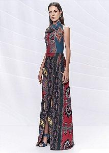 Vestido Longo Arte Sacra Coutture - Estampado