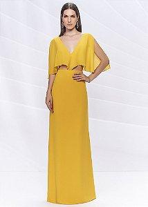 Vestido Longo Arte Sacra Coutture - Amarelo