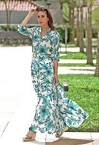 Vestido Longo Chemise Amissima - Estampado