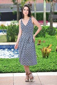 Vestido Midi Lese Amissima - Azul Escuro