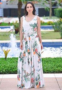 Vestido Longo Floral Amissima - Estampado