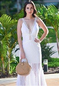 Vestido Longo Arte Sacra Coutture - Off White