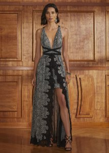 Vestido Longo Lezard Agilità - Estampado