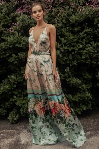 Vestido Longo Patrícia Bonaldi - Pêssego Estampado