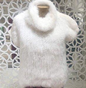 Blusa de Pele La Vita - Branco