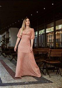 Vestido Longo Praiano - Estampado