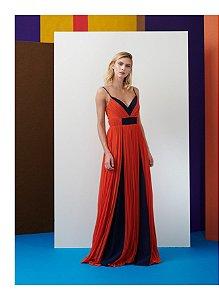 Vestido Longo Daniela Liso Coral - Maracujá Brand