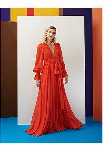 Vestido Longo Jussara Liso - Maracujá Brand