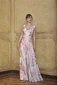 Vestido Longo Estampado Flaviana Kalandra - Floral