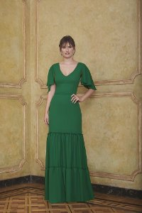 Vestido Longo Liso Kalandra - Verde