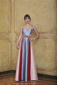 Vestido Longo Zibeline Kalandra - Tricolor