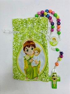Terço Infantil Color com saquinho estampado - São José (3697)