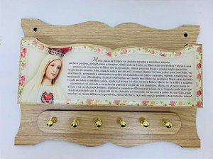 Porta Chaves com Porta Cartas - Nossa Senhora de Fátima (8287)