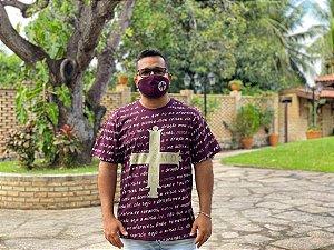 Camiseta Medalha de São Bento com mascara de proteção (8326)