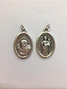 Medalha Italiana São Pe. Pio / Maria SS. della Libera di Pietrelcina (8327)
