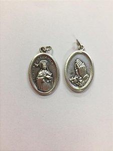 Medalha Italiana Santa Teresa de Ávila / Mãos (8327)