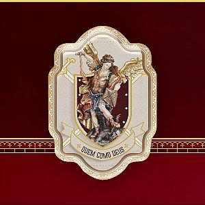 Adesivo resinado 8 x 5,5cm São Miguel - Quem como Deus | Hesed