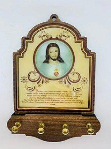 Porta Chaves 4 pinos - Sagrado Coração de Jesus