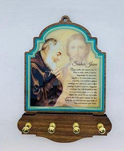 Porta Chaves 4 pinos - São Padre Pio