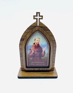 Capela 15cm madeira sem porta - São Francisco (723)