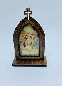 Capela 15cm madeira sem porta - Sagrada Família (723)