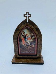 Capela 15cm madeira sem porta - São Miguel (723)