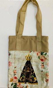Bolsa com Alça em tecido 34 x 26 cm - Nossa Senhora Aparecida
