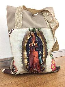 Bolsa com Alça em tecido 34 x 26 cm - Nossa Senhora de Guadalupe