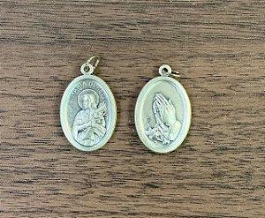 Medalha Italiana Santa Maria Goreti / Mãos (8327)