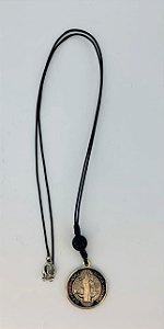 Cordão medalha de São Bento resinada (8401)