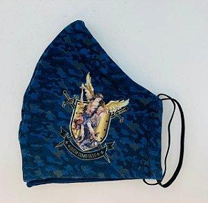 Mascara de Proteção facial - Camuflada São Miguel - Quem como Deus