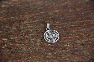 Medalha de São Bento em prata velha