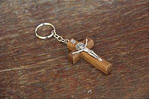 Chaveiro Cruz em madeira (6933)