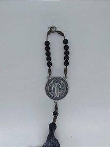 Adorno para carro prata velha São Bento (5377)