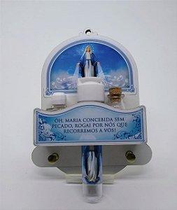 Porta chave com kit sal, água e óleo - Nossa senhora das Graças (5676)