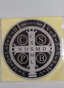 Adesivo resinado São Bento 12cm - preto (8158)