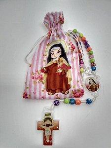 Terço infantil no saquinho - santa Teresinha (3697)