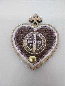 Porta terço coração - São Bento (7222)