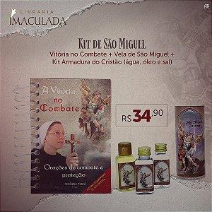 Combo 3: Kit Armadura do Cristão (Óleo / Sal / Água) + Vela São Miguel 7 dias + Livro Vitória no Combate
