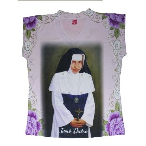 Camiseta babylook Irmã Dulce