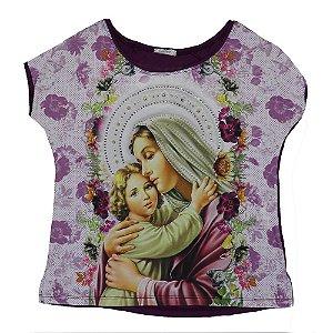 Camiseta babylook Mãe de Deus  6049