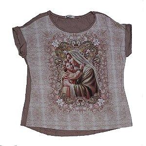 Camiseta babylook Mãe de Deus